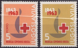 YOUGOSLAVIE JUGOSLAVIJA Bienfaisance  51 & 52 ** MNH Croix-Rouge  Red Cross 1963 - Charity Issues