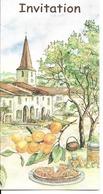 """88 - Saint-Baslemont (Château) - Invitation Au Vernissage De L'Image """"Le Pays De La Mirabelle"""" - Other Municipalities"""