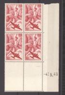 CD  501   -  France  -  Coins Datés  -  Avion  :  Yv  12   **     4-5-48 - Ecken (Datum)