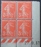 R1189/309 - 1937 - TYPE SEMEUSE - N°278A TIMBRES NEUFS** CdF Daté - 1930-1939