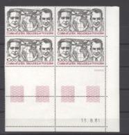 France  -  Coins Datés  -  Avion  :  Yv  55   **     13-3-81 - Ecken (Datum)