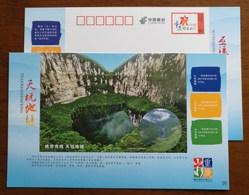 National Key Scenic Spots Tiankeng Karst Landform,CN 14 Chongqing Tourism Annual Ticket Advert Pre-stamped Card - Geology