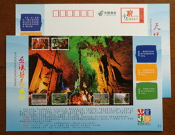 Lingyandong Karst Cave Landform,cable Car,CN 14 Chongqing Tourism Annual Ticket Advert Pre-stamped Card - Other