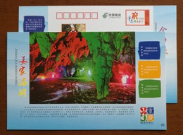 Jiangjia Underground Corrosion Cave Karst Cave,stalactite,CN14 Chongqing Tourism Annual Ticket Advert Pre-stamped Card - Other