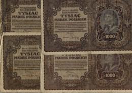 1919 - Lot De 4 Billets De 1000 Marek - (Billets Usagés) - Polonia