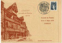 1979 - Journée Du Timbre Lisieux - Menu Repas Du 25eme Congrès De L'Union Des Sociétés Phil. De Basse Normandie - Otros