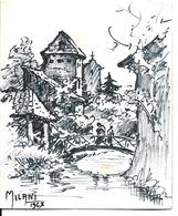 54 - Gerbéviller - Pont Sur La Rivière - Dessin De A. Milani - Gerbeviller