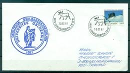 """Norvège 1987 - Enveloppe """"expédition Géologique à Svalbard"""" - Longyearbyen - Programmes Scientifiques"""