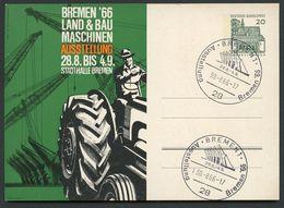 BAU- LANDMASCHINEN Sost. Bremen 1966  Bund PP36 D2/003-IIa NGK 10,00 € - Landwirtschaft