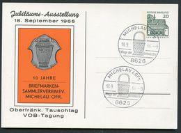 STADTWAPPEN MICHELAU OBERFRANKEN Bund PP36 D2/006  Sost.1966  NGK 12,00 € - Briefe U. Dokumente