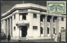 DOMINICAN REPUBLIC: SANTIAGO: Post Office, Maximum Card Of FE/1939, VF Quality - Dominican Republic