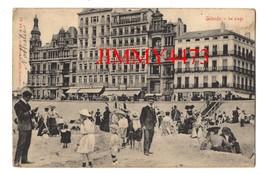 CPA - OSTENDE - Grands Hôtels Et La Plage Bien Animée En 1905 - Flandre Occidentale Belgique - N° 94 - Edit. V. B. - Oostende