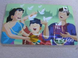 Thailand ,Lenso  500 Baht,used Chipcard  # 156 Song Kran - Thaïland