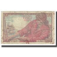 France, 20 Francs, Pêcheur, 1943, P. Rousseau And R. Favre-Gilly, 1943-01-28 - 1871-1952 Antichi Franchi Circolanti Nel XX Secolo