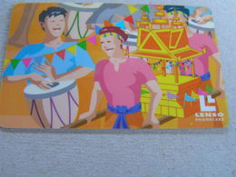 Thailand ,Lenso  500 Baht,used Chipcard  # 152 Wax Castle Festival 2 - Tailandia