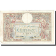 France, 100 Francs, Luc Olivier Merson, 1938, P. Rousseau And R. Favre-Gilly - 1871-1952 Antichi Franchi Circolanti Nel XX Secolo