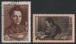 Russia / Sowjetunion 1951 - Mi-Nr. 1555-1556 Gest / Used - Furmanow - 1923-1991 UdSSR