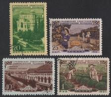 Russia / Sowjetunion 1951 - Mi-Nr. 1548-1551 Gest / Used - Georgische SSR - 1923-1991 UdSSR