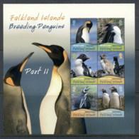 Falkland Is 2010 Breeding Penguins MS MUH - Falkland