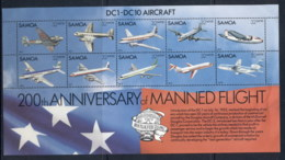 Samoa 1983 Manned Flight 200th Anniv. MS MUH - Samoa