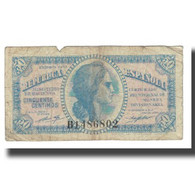 Billet, Espagne, 50 Centimos, 1937, KM:93, TB - 1-2 Pesetas