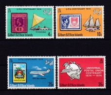 387k * GILBERT & ELLICE INSELN * 4 FEINE WERTE UPU * POSTFRISCH **!! - Tuvalu (fr. Elliceinseln)