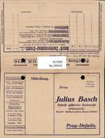 642116,Reklame AK Julius Basch Prag Dejwitz Praha Fabrik Firma Basch - Werbepostkarten