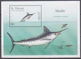 1996St Vincent And Grenadines3695/B397Sea Fauna - Vita Acquatica