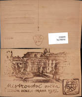 643653,Material AK Holzkarte Holz AK Prag Praha Mistrovstoi - Ansichtskarten