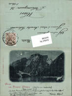 643598,Trentino Mond Lithographie Gruß Aus Prags Pragser Wildsee 1898 - Bolzano (Bozen)