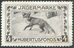 Austria Hunting Hubertusfonds Jägermarke FOX Renard Fuchs Charity Donation Revenue Chasse Autriche Jagd Österreich - Sellos