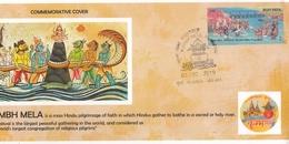 India  2019  Kumbh Mela  Sagar Manthan  Snake Rope  Hinduism  Special Cover  #  24287  C&D Indien Inde India - Hinduism