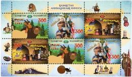 Kazakhstan 2019. Souvenir Sheets. Animated Film Of Kazakhstan.two Type.NEW!!! - Cinema