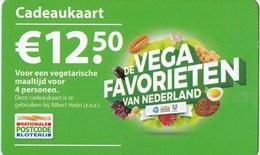 Nederland - Cadeaukaart Postcode-loterij - De VEGA FAVORIETEN Van Nederland - Albert Heijn -gebruikt - Andere Verzamelingen