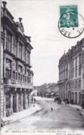 55 - Bar Le Duc ( Meuse )  Le Theatre Et La Rue Rousseau - Bar Le Duc