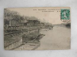 PUTEAUX - Les Bords De La Seine - Le Quai National (avec Péniches) - Puteaux