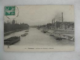PUTEAUX - La Seine Vers Suresnes - L'arsenal (avec Fumée Sortant Des Cheminées) - Puteaux