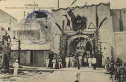 Casablanca Vue Exterieure De La Porte De La Douane Le 14 Juillet + Cachet  RV - Casablanca