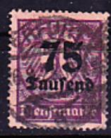 Deutsches Reich German Empire Empire Allemand - Dienstmarke/Service (Mi.Nr. 91) 1923 - Gest. Used Obl. - GEPRÜFT - Dienstzegels