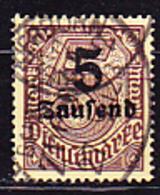 Deutsches Reich German Empire Empire Allemand - Dienstmarke/Service (Mi.Nr. 89) 1923 - Gest. Used Obl. - GEPRÜFT - Dienstzegels