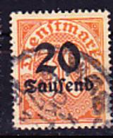 Deutsches Reich German Empire Empire Allemand - Dienstmarke/Service (Mi.Nr. 90) 1923 - Gest. Used Obl. - GEPRÜFT - Dienstzegels