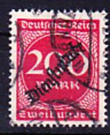 Deutsches Reich German Empire Empire Allemand - Dienstmarke/Service (Mi.Nr. 78) 1923 - Gest. Used Obl. - GEPRÜFT - Dienstzegels
