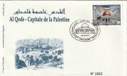Maroc. FDC Avec Timbre 2019. Al Qods - Capitale De La Palestine. Cachet Du Musée De Rabat. - Marruecos (1956-...)