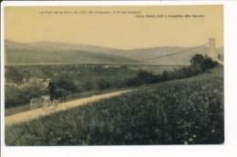 Carte Toilée Et Colorisée Le Pont De La Caille ( Victor Duret éditeur à Cruseilles ) - Andere Gemeenten