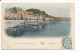 Carte De Duclair  Le Quai De Rouen ( Colorisée ) - Duclair