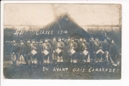 Carte Photo Militaire Fanfare Musique Tambour écrite De Guillermin Antoine 44e Régiment 2e Compagnie à BRUYERES 88 - Bruyeres