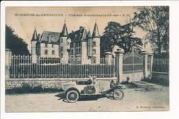 Carte De Saint Siméon De Bressieux Château Geautefrey ( Ancienne Voiture Auto ) ( Attention Tachée ) - Autres Communes
