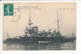 Carte Du Bateau  Marine Militaire Française Le Hoche Cuirassé à Tourelles - Guerra