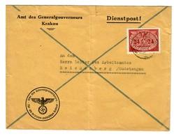 GG 1941: Amt Des GG, Krakau 20 Nach Reichenberg/Sudentengau - Occupation 1938-45