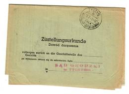 GG 1943: Zustellurkunde Tyczyn/Krakau - Occupation 1938-45